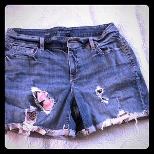 super cute destroyed denim shorts sz 14 EUC